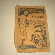 Catálogos publicitarios: DIPTICO PUBLICITARIO DEL LABORATORIO FOTOGRAFICO ALDABO DE BARCELONA.. Lote 135269606