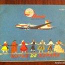 Catálogos publicitarios: IBERIA LÍNEAS AÉREAS ESPAÑOLAS 1960. 5 RUTAS DE ESPAÑA. FOLLETO PUBLICITARIO. AVIACIÓN. ORIGINAL. Lote 135703967