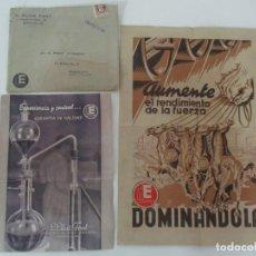 Catálogos publicitarios: PUBLICIDAD INDUSTRIA QUÍMICA AMILÁCEA - IMPRESOS, CATÁLOGO Y FOLLETO - E. ELIAS FONT. Lote 135794474