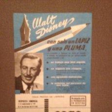 Catálogos publicitarios: PUBLICIDAD CEAC ORIGINAL AÑOS 60: CEAC , WALT DISNEY NUEVA. Lote 136244414