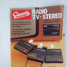Catálogos publicitarios: ANTIGUO CATALOGO RADIO TV STEREO GRAETZ AÑOS 70 . Lote 136411386