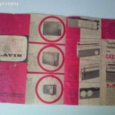 Catálogos publicitarios: ANTIGUO FOLLETO LAVIS IMAGEN Y SONIDO . Lote 136411730