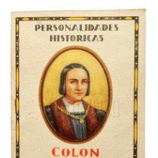 Catálogos publicitarios: PUBLICIDAD PANFLAVINA BAYER PERSONALIDADES HISTÓRICAS. CRISTÓBAL COLÓN BIOGRAFÍA AÑOS 30 - 40. Lote 136653006