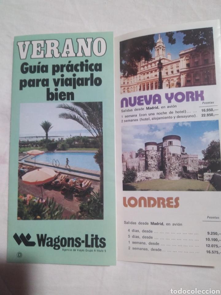 Folleto publicidad viajes WAGONS LITS , 1977 VERANO, GUÍA PRÁCTICA PARA VIAJARLO BIEN segunda mano