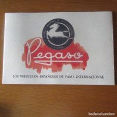 Catálogos publicitarios: CATALOGO PUBLICIDAD COCHES CAMIONES PEGASO. Lote 137140946