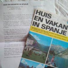 Catálogos publicitarios: CIRCULAR PUBLICIDAD REVISTA MAGAZINE PARA PROMOCIONAR A ESPAÑA EN HOLANDA, 1977. Lote 137143060