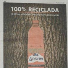 Catálogos publicitarios: RECORTE DE PERIODICO ANUNCIO AGUA DE LANJARON SIERRA NEVADA. Lote 137443986