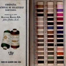 Catálogos publicitarios: FOLLETO MUESTRARIO TEXTIL COMPAÑÍA NACIONAL DE HILATURAS BARCELONA - TUBOS DE ALGODÓN SIMIL SEDA. Lote 137648402