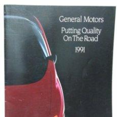 Catálogos publicitarios: ORIGINAL GM GENERAL MOTORS CATALOGO1991 PONTIAC - BUICK - CADILLAC COCHES. Lote 138070306