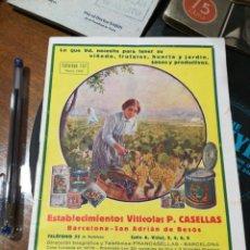 Catálogos publicitários: CATÁLOGO DE 1930. SAN ADRIÁN DEL BESOS. BARCELONA . Lote 139045770
