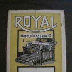 Catálogos publicitarios: CATALOGO MAQUINA DE ESCRIBIR ROYAL STANDARD - MODELO MAESTRO 10 - VER FOTOS (V-15.281). Lote 139331242