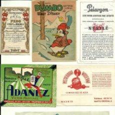 Catálogos publicitarios: LOTE DE PUBLICIDAD DE LOS AÑOS 40-50-60. Lote 139386722