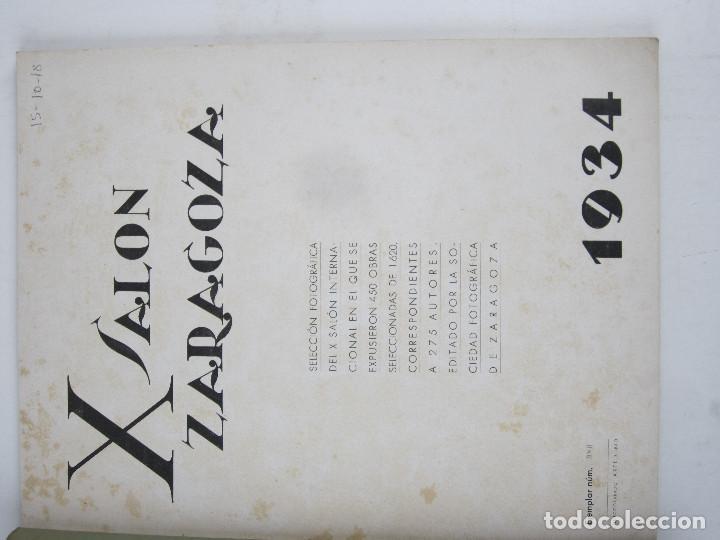 Catálogos publicitarios: FOTOGRAFÍA - X SALÓN ZARAGOZA, 1934. Numerado. 22x28 cm. 64 pag. - Foto 2 - 139516978