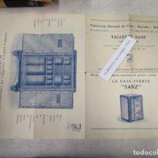 Catálogos publicitarios: CAJAS FUERTES BASCULAS BALANZAS - TALLERES SANZ FABRICANTES - VALENCIA 30`S DESPLEGABLE 50X33CM. EXC. Lote 139569818