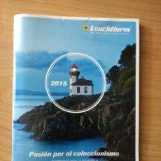 Catálogos publicitarios: CATÁLOGO ARTÍCULOS NUMISMÁTICOS «LEUCHTTURM» 2015. Lote 139817622