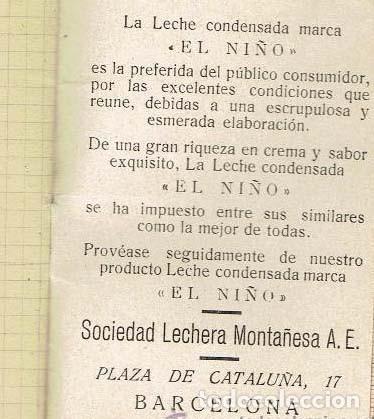 Catálogos publicitarios: LECHE CONDENSADA EL NIÑO AGENDA - LIBRETA - BARCELONA. EXCELENTE ESTADO - Foto 6 - 139973722