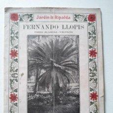 Catálogos publicitarios: CATALOGO PARA 1915. ARBOLES, PLANTAS Y FLORES. FERNANDO LLOPIS. Lote 180197621