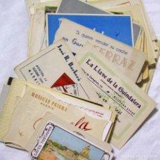 Catálogos publicitarios: 72 TARJETAS ANTIGUAS PUBLICITARIAS DE MADRID (TODAS FOTOGRAFIADAS). Lote 140182426