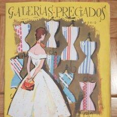 Catálogos publicitarios: CATÁLOGO GALERÍAS PRECIADOS 1955. Lote 140563865