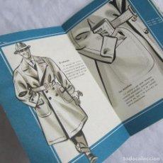 Catálogos publicitarios: FOLLETO ACORDEÓN PUBLICIDAD GABARDINA SUPER TRINCHERA REGUERO MADRID. Lote 141034854