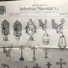 Catálogos publicitarios: CATALOGO ARTÍCULOS CEMENTERIO. BARCELONA. Lote 141125313
