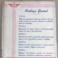 Catálogos publicitarios: CATALOGO GENERAL DE MÁQUINAS Y APARATOS INDUSTRIALES - FRANCISCO RUFO Y CIA (BILBAO). Lote 141317970