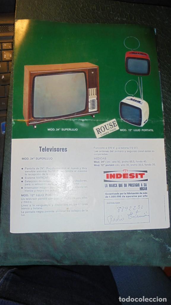 Catálogos publicitarios: ANTIGUO CATALOGO INDESIT 1973 - TRIPTICO 6 PAG. 29,5X21 CM. - Foto 2 - 141759214