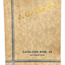 Catálogos publicitarios: PRECIOSO CATÁLOGO PUBLICIDAD DE RELOJES J. G. GIROD OCTUBRE 1935 MUY ILUSTRADO. Lote 141931598