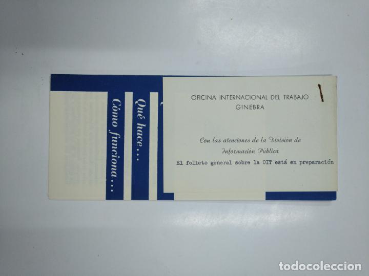 FOLLETO QUE ES LA ORGANIZACION OFICINA INTERNACIONAL DEL TRABAJO. GINEBRA. TDKP13 (Coleccionismo - Catálogos Publicitarios)