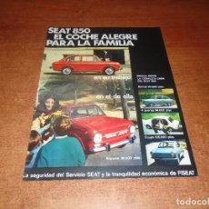 Catálogos publicitarios: PUBLICIDAD PRENSA 1969: SEAT 850. Lote 141966534
