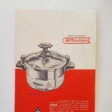 Catálogos publicitarios: PUBLICIDAD ANTIGUA OLLA Y CAFETERA SEB MAGEFESA DOBLE CARA. Lote 142093202