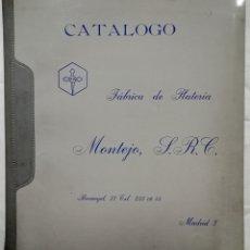 Catálogos publicitarios: CATÁLOGO DE LA FÁBRICA DE PLATERÍA MONTEJO. 1968.. Lote 142429200