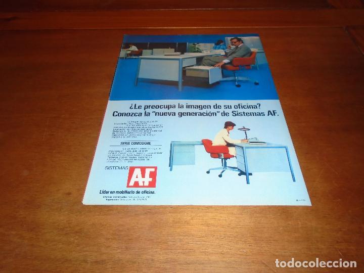 PUBLICIDAD 1978: SISTEMAS AF. MUEBLES DE OFICINA, SERIE COMODORE. (Coleccionismo - Catálogos Publicitarios)