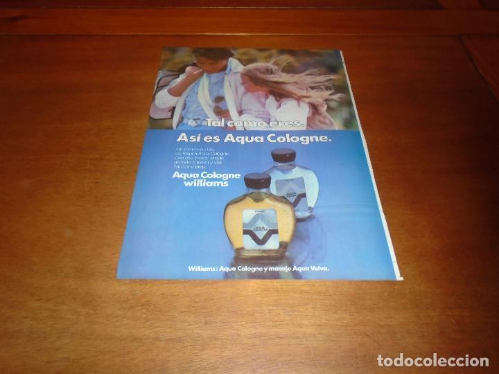 PUBLICIDAD 1978: AQUA COLOGNE WILLIAMS (Coleccionismo - Catálogos Publicitarios)