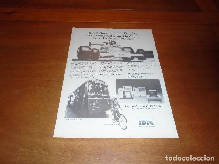 PUBLICIDAD 1978: INFORMÁTICA. SISTEMA IBM 8100 (Coleccionismo - Catálogos Publicitarios)