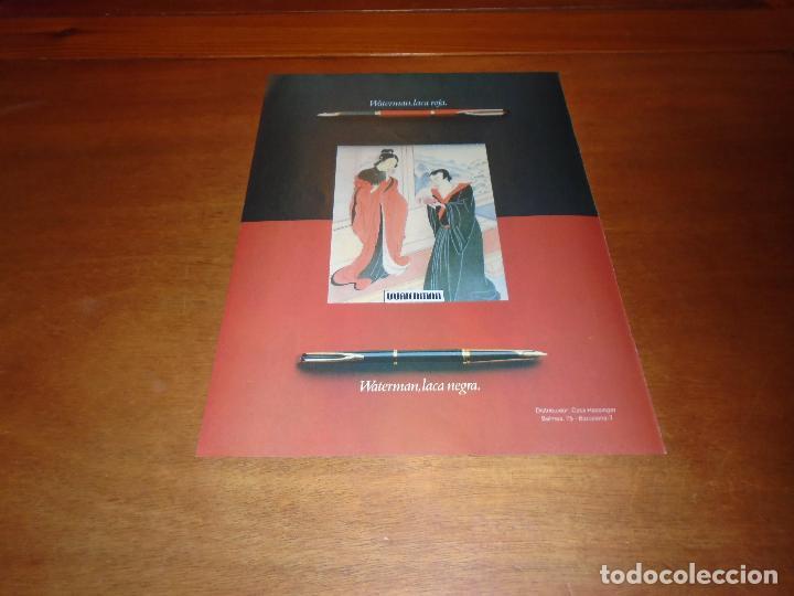 PUBLICIDAD 1978: WATERMAN LACA ROJA - LACA NEGRA. (Coleccionismo - Catálogos Publicitarios)