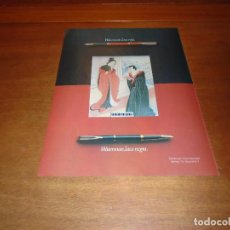 Catálogos publicitarios: PUBLICIDAD 1978: WATERMAN LACA ROJA - LACA NEGRA.. Lote 142833258