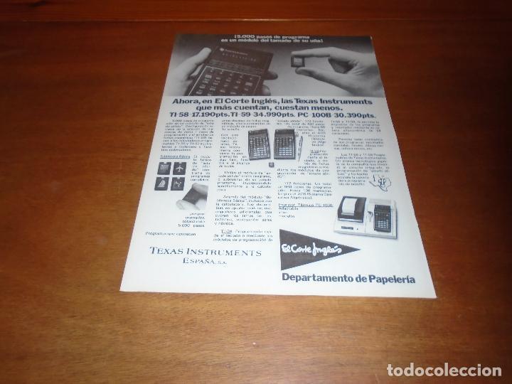 PUBLICIDAD 1978: TEXAS INSTRUMENTS ESPAÑA S.A. (Coleccionismo - Catálogos Publicitarios)