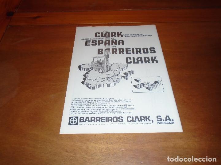 PUBLICIDAD 1978: BARREIROS, CARRETILLAS ELEVADORAS CLARK EN ZARAGOZA. (Coleccionismo - Catálogos Publicitarios)