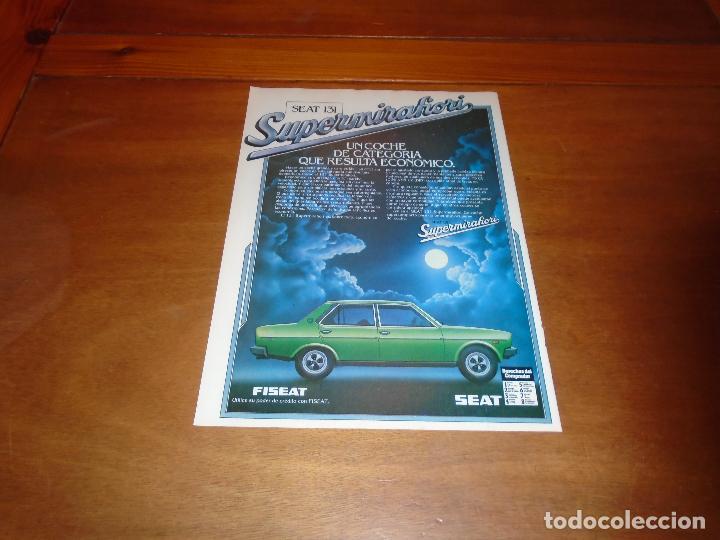 PUBLICIDAD 1978: SEAT 131 SUPERMIRAFIORI. (Coleccionismo - Catálogos Publicitarios)