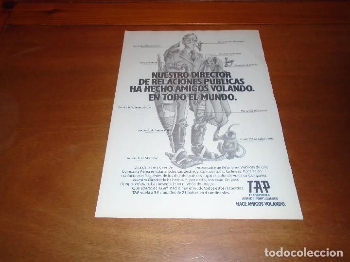 PUBLICIDAD 1978: TAP. TRANSPORTES AÉREOS PORTUGUESES. (Coleccionismo - Catálogos Publicitarios)