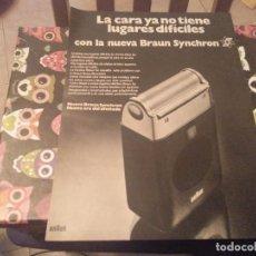 Catálogos publicitarios: ANTIGUO ANUNCIO PUBLICIDAD REVISTA MAQUINA DE AFEITAR BRAUN SYNCHRON. Lote 142952210