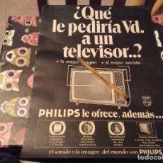 Catálogos publicitarios: ANTIGUO ANUNCIO PUBLICIDAD REVISTA TELEVISOR PHILIPS ESPECIAL PARA ENMARCAR. Lote 143060718