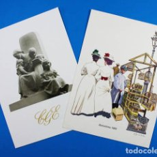 Catálogos publicitarios: 2 CURIOSAS FELICITACIONES NAVIDAD DE CATALANA DE GAS 1982 Y 1984. Lote 143183842