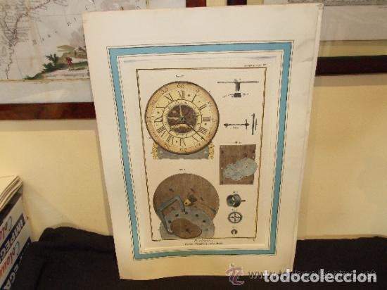RELOJ, GRABADO, COLECCION DE 9 GRABADOS FRANCESES SOBRE RELOJES (Coleccionismo - Catálogos Publicitarios)