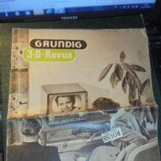 Catálogos publicitarios: ANTIGUO CATALOGO / FOLLETO - GRUNDIG , 3-D-REVUE , RADIOS, TV, GRABADORAS , ETC. 24 PAG. 34X25 CM. . Lote 144198262