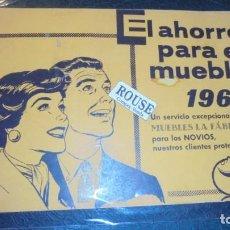 Catálogos publicitarios: ANTIGUO CATALOGO - MUEBLES LA FABRICA - EL AHORRO PARA EL MUEBLE 1960 UN SERVICIO EXCEPCIONAL PARA L. Lote 144205674