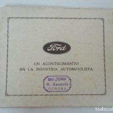 Catálogos publicitarios: ANTIGUO CATÁLOGO COCHES FORD - HUECOGRABADO MUNBRÚ - MUCHAS FOTOS, CARACTERÍSTICAS, ETC - 20 PÁGINAS. Lote 144718646