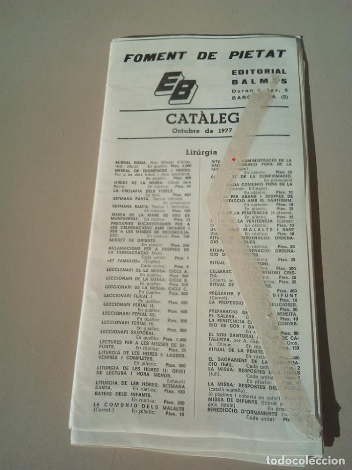 CATALOGO EDITORIAL BALMES AÑO 1977 (Coleccionismo - Catálogos Publicitarios)