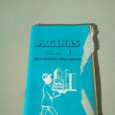 Catálogos publicitarios: CATALOGO EDITORIAL PAULINAS LIBROS RELIGIOSOS AÑO 1978. Lote 145015938